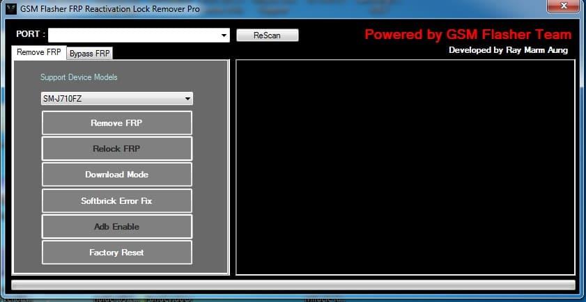 Samsung FRP Bypass tool